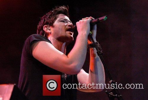 The Script perform live in concert at the...