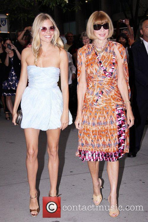 Sienna Miller, Anna Wintour Premiere of 'The September...