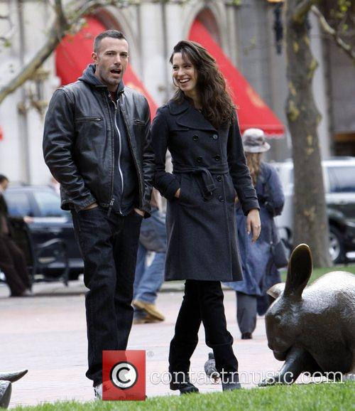 Ben Affleck and Rebecca Hall On The Set Of 'the Town' Filming In Copley Square 10
