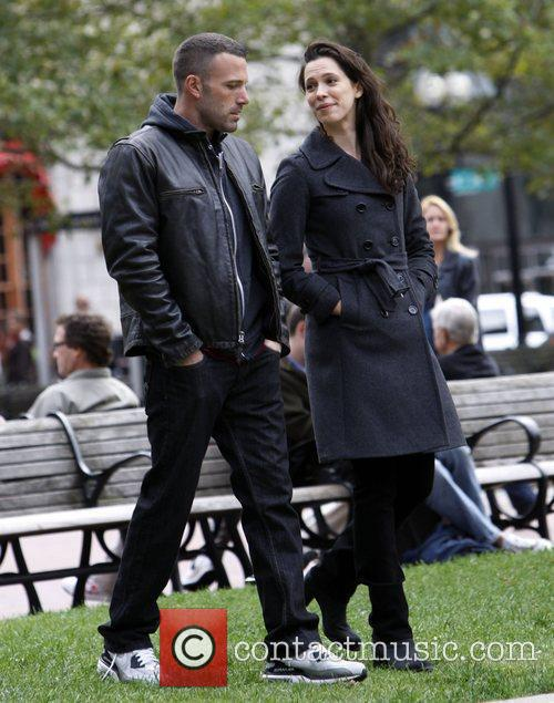 Ben Affleck and Rebecca Hall On The Set Of 'the Town' Filming In Copley Square 2