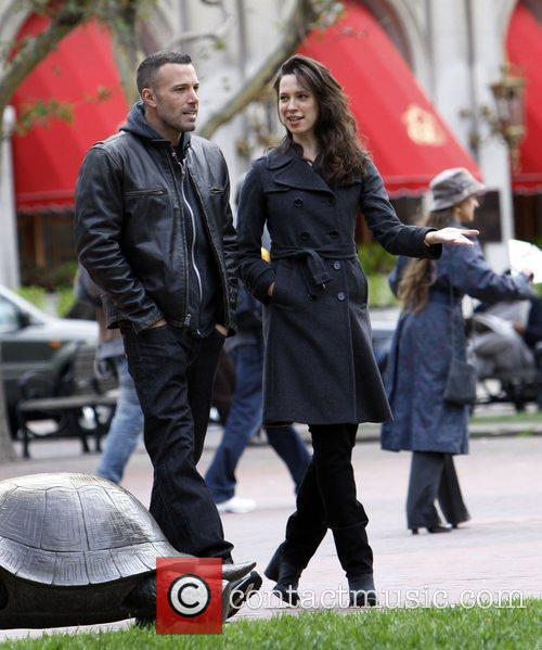 Ben Affleck and Rebecca Hall On The Set Of 'the Town' Filming In Copley Square 4