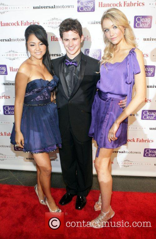 Kat DeLuna and Connor Paolo with Katrina Bowden...