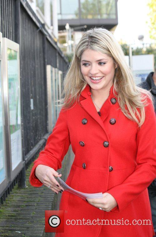 Holly Willoughby outside the 'This Morning' studios London,...