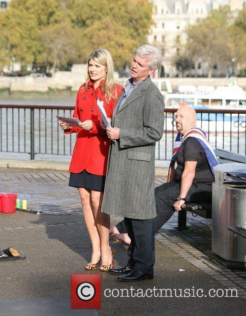 Holly Willoughby and Philip Schofield outside the 'This...