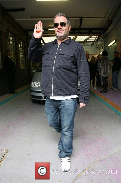 Chirs Moyles leaving 'This Morning' studios London, England