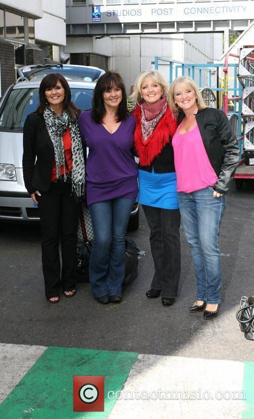 The Nolans leaving the ITV studios London, England