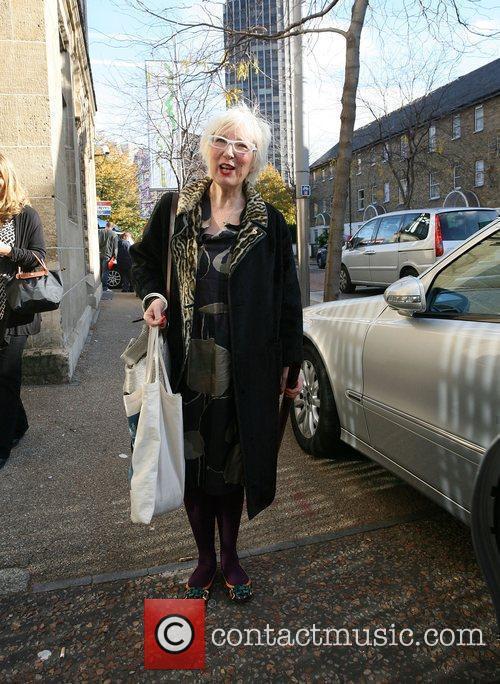 Jenny Eclair Leaving the This Morning studios London,...