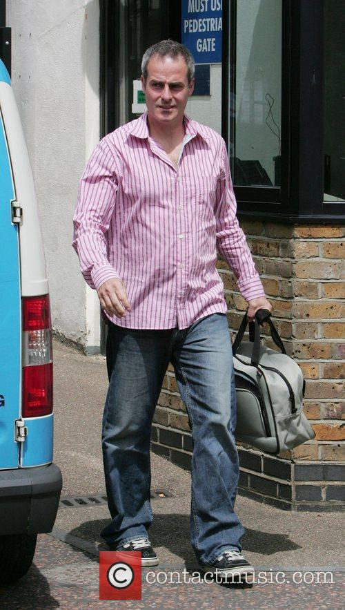 Phil Vickery leaving the 'This Morning' studios London,...