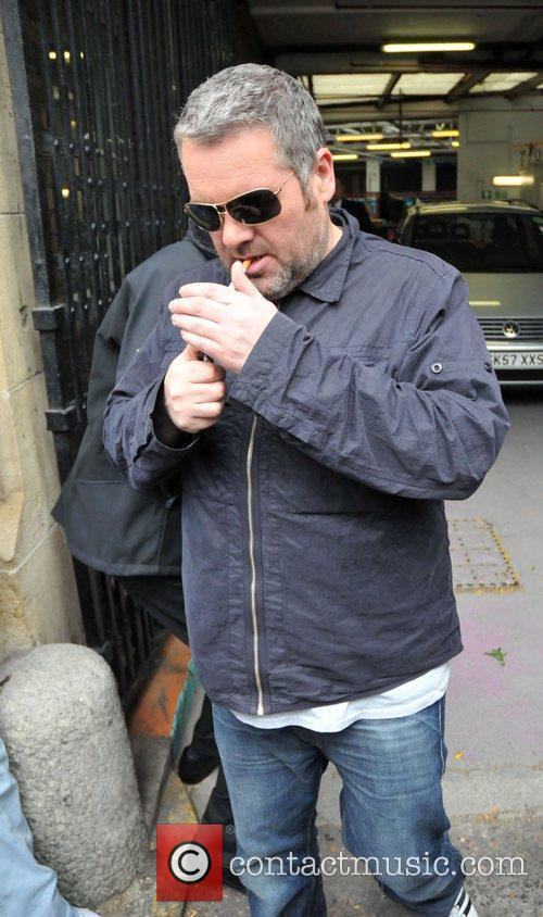 Chris Moyles leaving the ITV Studios after appearing...