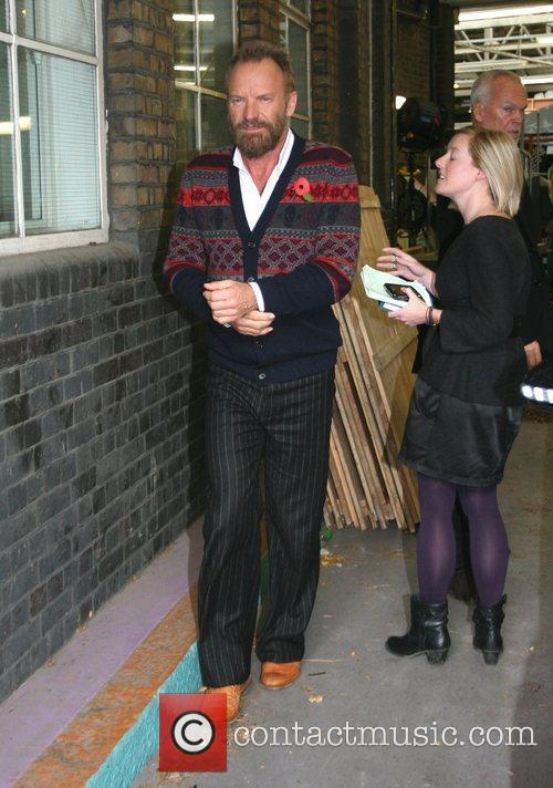 Sting leaving the 'This Morning' studios London, England