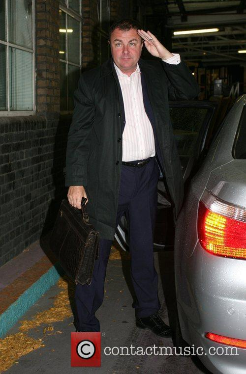 Outside the 'This Morning' studios on the 21st...