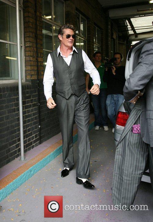 David Hasselhoff leaving the This Morning studios London,...