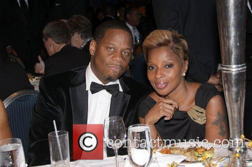 Recording artist Mary J. Blige & her husband...