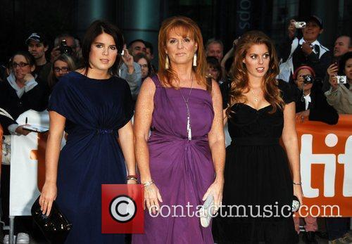 Princess Eugenie, Sarah Ferguson and Princess Beatrice The...