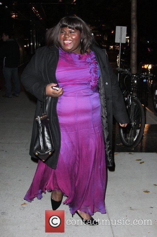 Gabourey Sidibe and Tim Burton 2