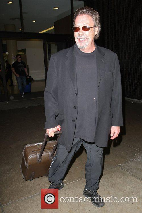 Tim Currie  seen arriving at LAX airport....