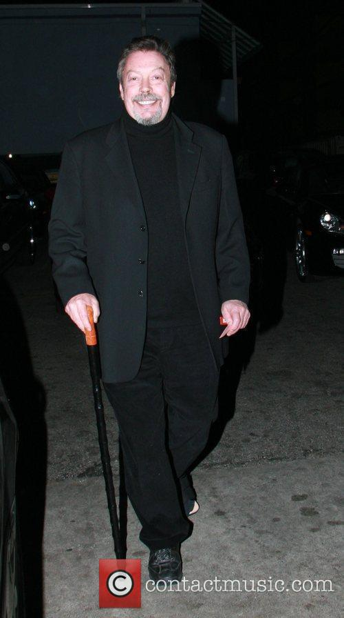 Leaves Orso restaurant in West Hollywood with the...
