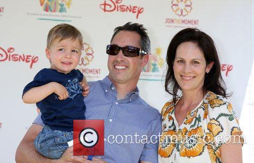 Annabeth Gish with Wade Allen and Cash Alexander...