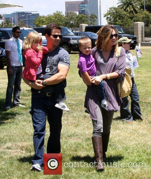 Mark Wahlberg, Rhea Durham With Their Children Ella Rae Wahlberg and Michael Wahlberg 2