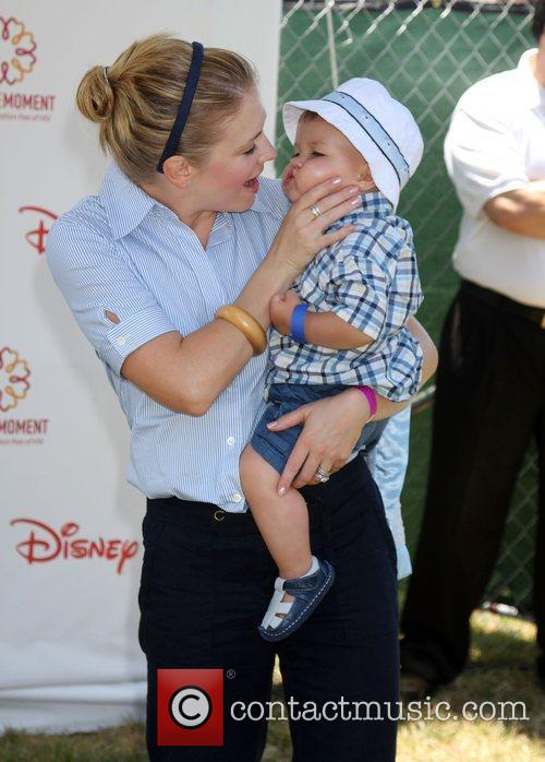 Melissa Joan Hart with her son Braydon Hart...