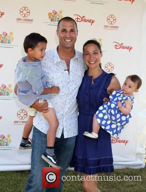 Nigel Barker with her family Elizabeth Glaser Pediatric...