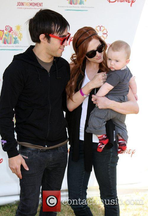 Pete Wentz, Ashlee Simpson Wentz with their son...