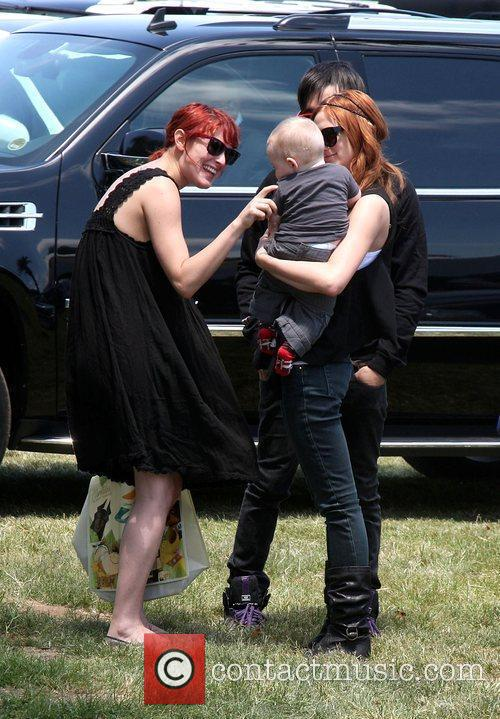 Rumer Willis, Pete Wentz, Ashlee Simpson-Wentz and Bronx...