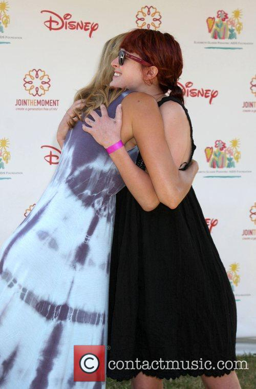 Stacey Keibler and Rumer Willis Elizabeth Glaser Pediatric...
