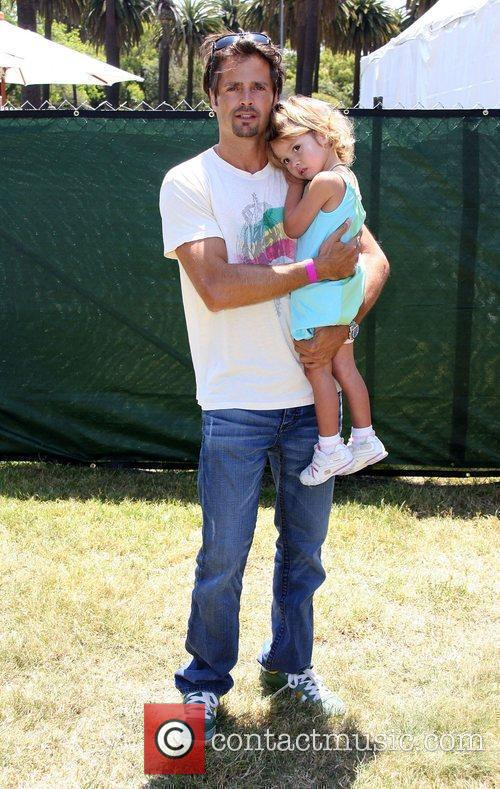 David Charvet with his daughter Elizabeth Glaser Pediatric...