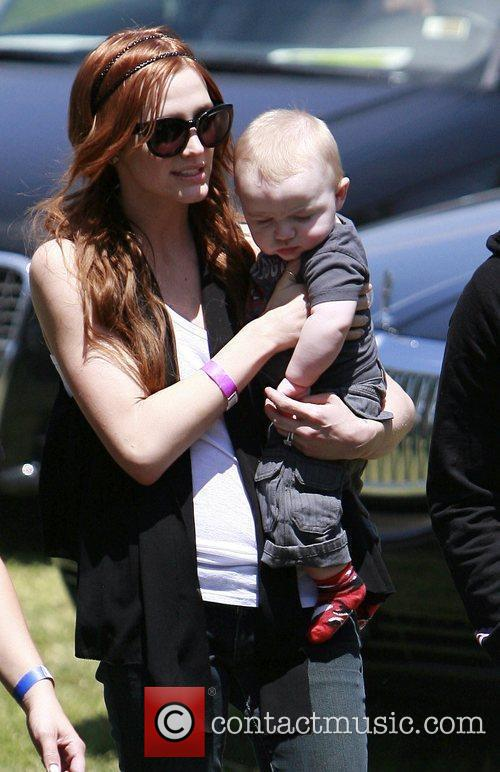 Ashlee Simpson and son Bronx Mowgli Wentz Elizabeth...