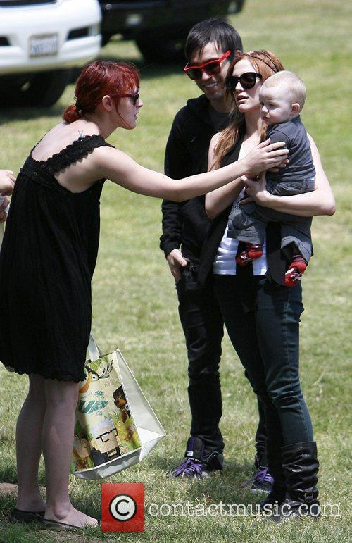 Ashlee Simpson, son Bronx Mowgli Wentz, and Pete...