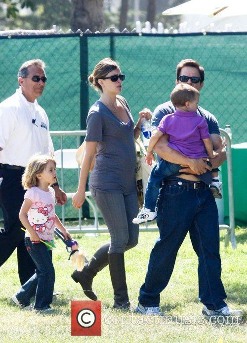 Mark Wahlberg, Rhea Durham With Their Children Ella Rae Wahlberg and Michael Wahlberg 6