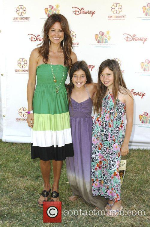 Brooke Burke with her daughters Elizabeth Glaser Pediatric...