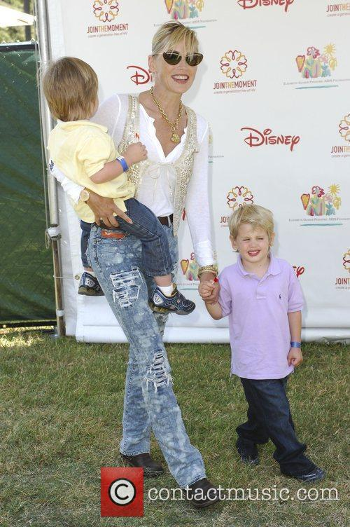 Sharon Stone with her sons Elizabeth Glaser Pediatric...