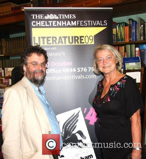 Stephen Poliakoff and Kate Adie The Times Cheltenham...