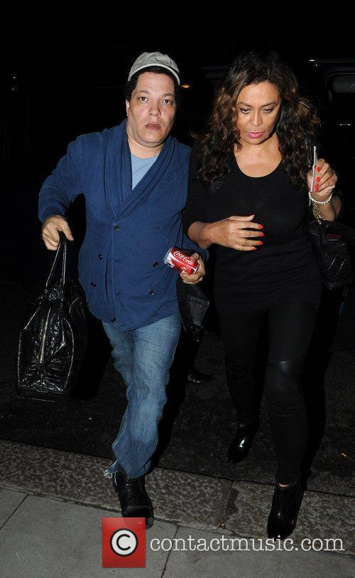 Tina Knowles arrives back at her hotel after...