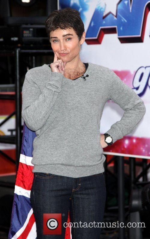 Amy Robach as Simon Cowell  Halloween Weekend...