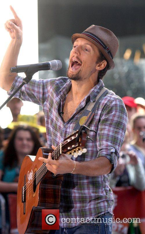 Jason Mraz performs on the Today show concert...