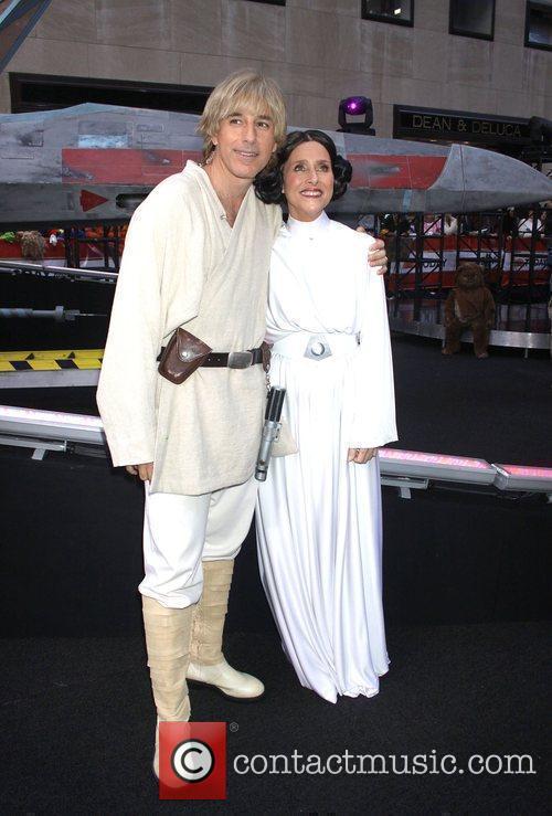 Matt Lauer as Luke Skywalker and Meredith Vieira...