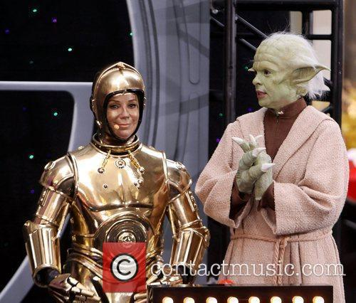 Kathie Lee as CP30 and Hoda Kotb as...