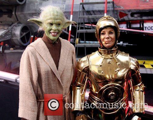 Hoda Koth as Yoda and Kathie Lee as...