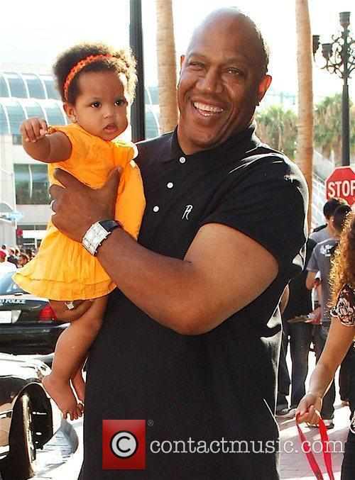 Leaves The Hard Rock Hotel with his family