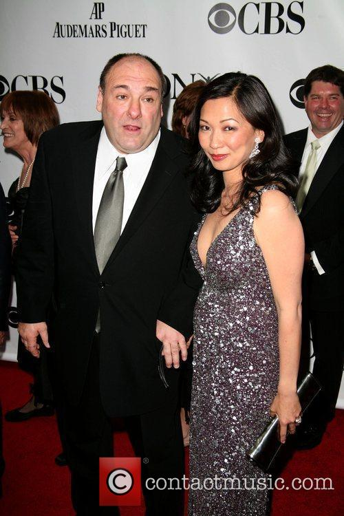James Gandolfini and Deborah Lin The 63rd Tony...