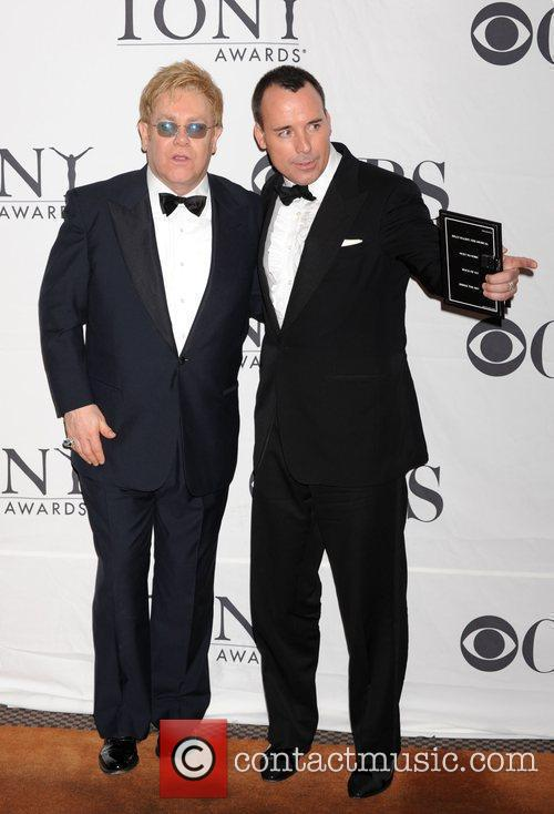 Elton John and David Furnish The 63rd Tony...