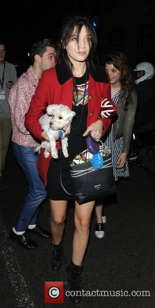 Daisy Lowe leaving the Topshop London Fashion Show...