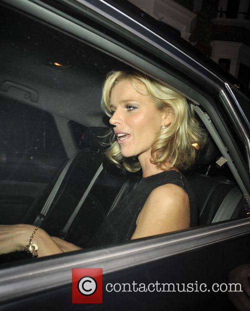 Leaving the Topshop London Fashion Show afterparty at...