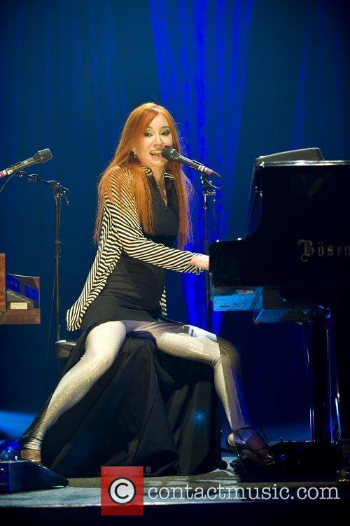 Performing live at the HMV Apollo Hammersmith.