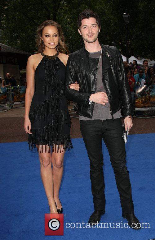 Danny O'Donoghue with his girlfriend, Odeon Leicester Square