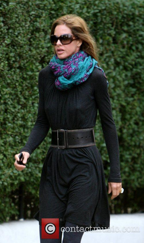 Trinny Woodhall after dropping her daughter off at...