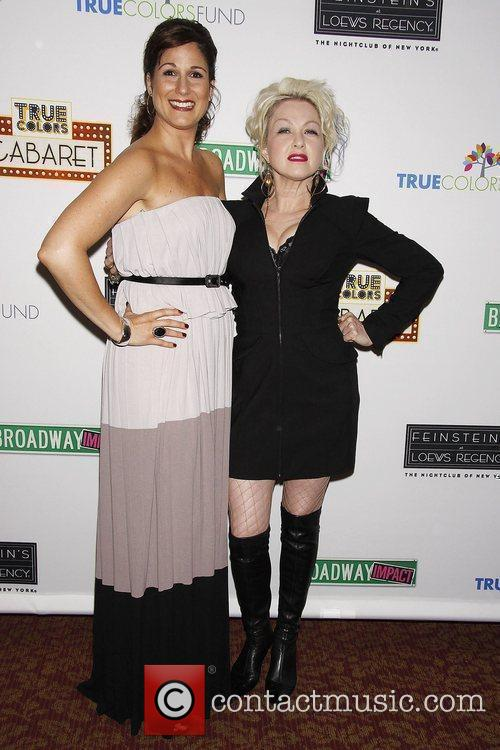 Stephanie J. Block and Cyndi Lauper Photocall for...